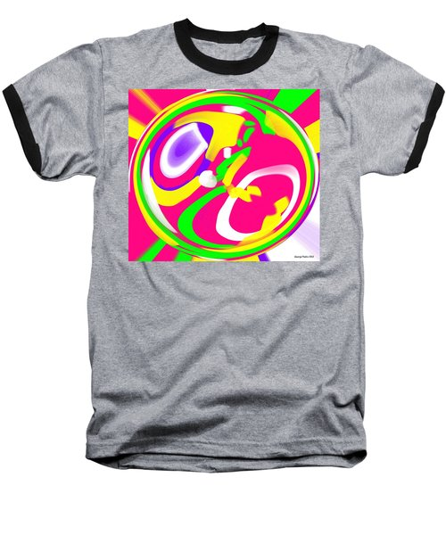 Baseball T-Shirt featuring the digital art Color Roundup by George Pedro