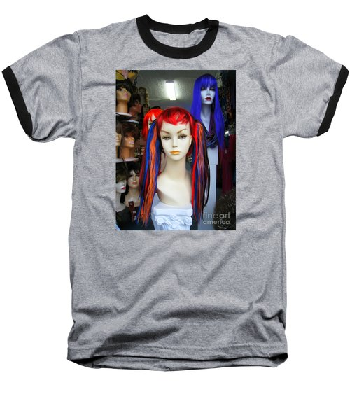 Baseball T-Shirt featuring the photograph Colored Hairdo by John King