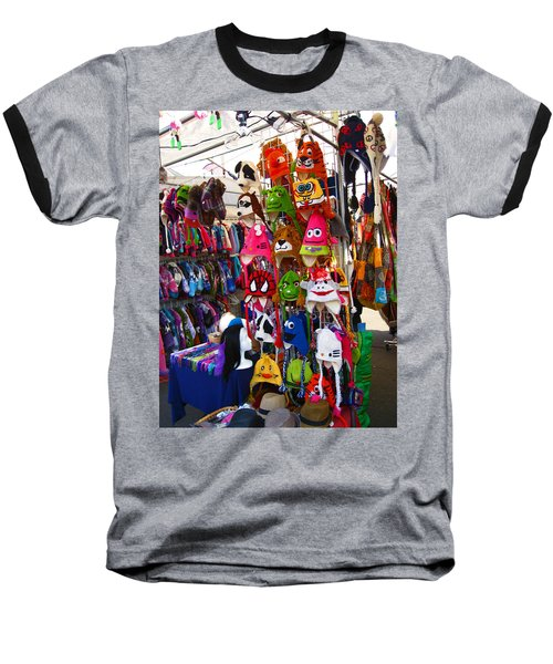 Baseball T-Shirt featuring the photograph Colorful Character Hats by Kym Backland