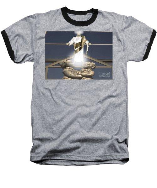 Come To Me Baseball T-Shirt by Belinda Threeths