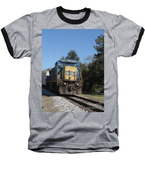 Baseball T-Shirt featuring the photograph Coming Down The Track by Donna Brown