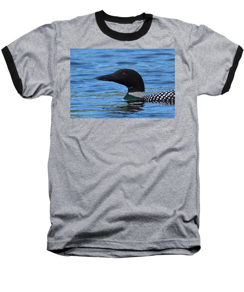Common Loon Baseball T-Shirt