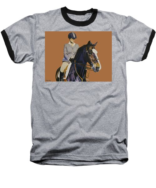 Concentration - Hunter Jumper Horse And Rider Baseball T-Shirt