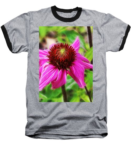 Baseball T-Shirt featuring the photograph Coneflower by Judi Bagwell