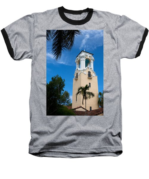Baseball T-Shirt featuring the photograph Congregational Church Of Coral Gables by Ed Gleichman