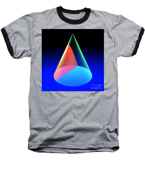 Conic Section Hyperbola 6 Baseball T-Shirt
