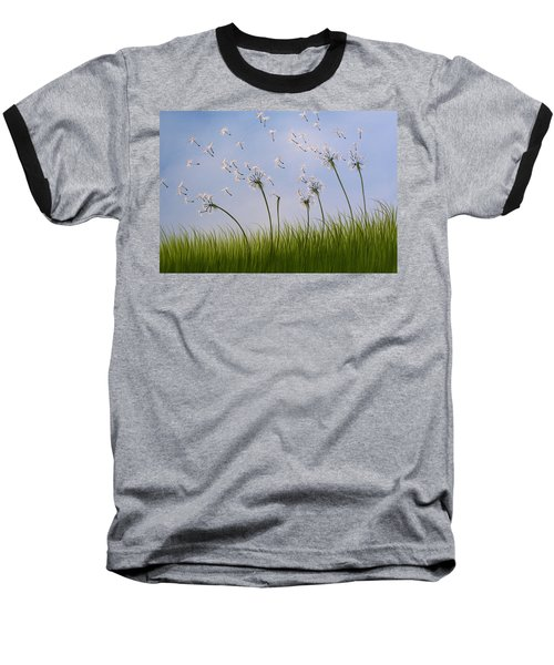 Baseball T-Shirt featuring the painting Contemporary Landscape Art Make A Wish By Amy Giacomelli by Amy Giacomelli