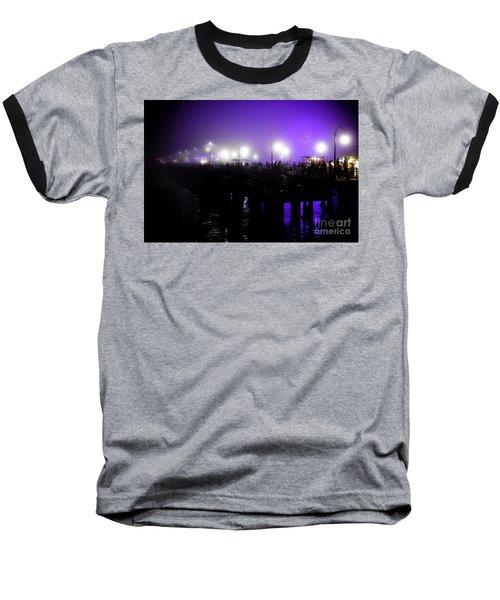 Cool Night At Santa Monica Pier Baseball T-Shirt by Clayton Bruster