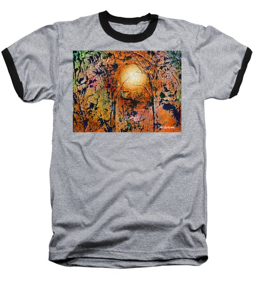 Baseball T-Shirt featuring the painting Copper Moon by Dan Whittemore