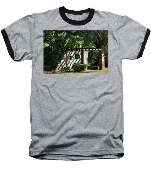Baseball T-Shirt featuring the photograph Coral Gables Gate by Ed Gleichman