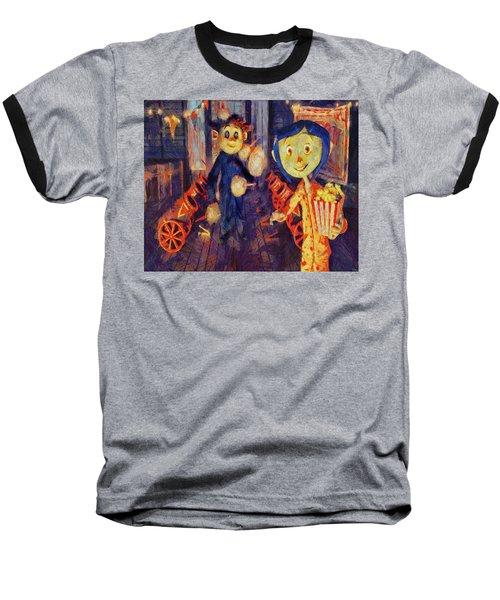 Baseball T-Shirt featuring the painting Coraline Circus by Joe Misrasi