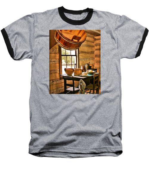 Baseball T-Shirt featuring the digital art Country Kitchen by Mary Almond