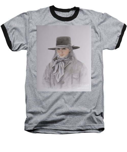 Cowgirl In Hat Baseball T-Shirt