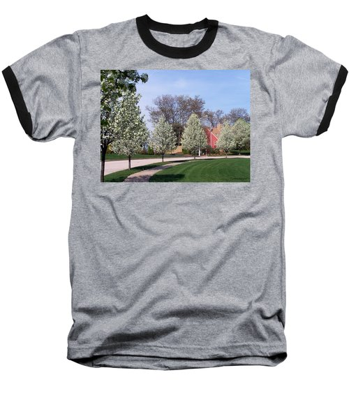 Baseball T-Shirt featuring the photograph Crab Apple Trees by Cynthia Amaral