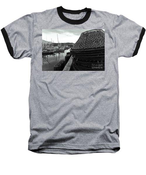 Crab Traps Baseball T-Shirt by Darcy Michaelchuk
