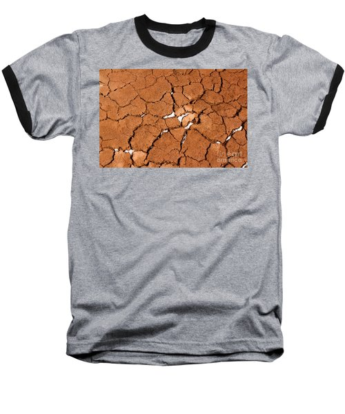 Baseball T-Shirt featuring the photograph Cracked Red Soil  by Les Palenik