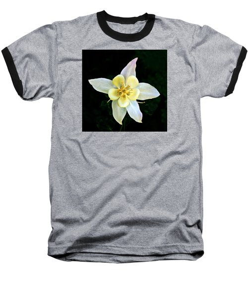 Creamy Columbine Baseball T-Shirt by Nick Kloepping