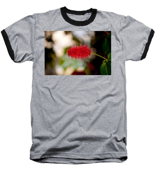 Baseball T-Shirt featuring the photograph Crimson Bottle Brush by Tikvah's Hope