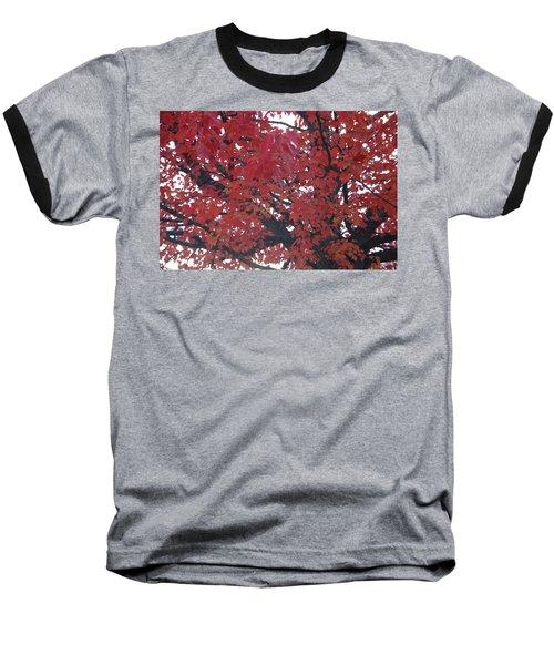 Crimson Leaves Baseball T-Shirt