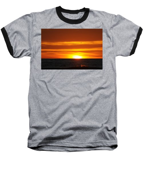 Crimson Sunset Baseball T-Shirt