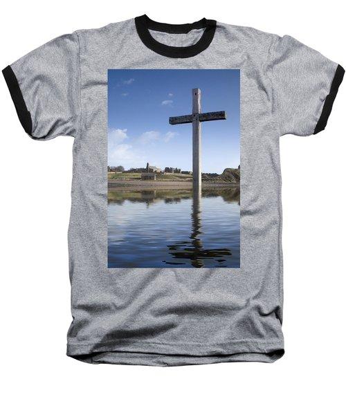 Baseball T-Shirt featuring the photograph Cross In Water, Bewick, England by John Short