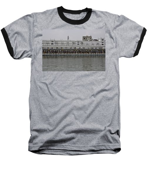 Crowd Of Devotees Inside The Golden Temple Baseball T-Shirt by Ashish Agarwal