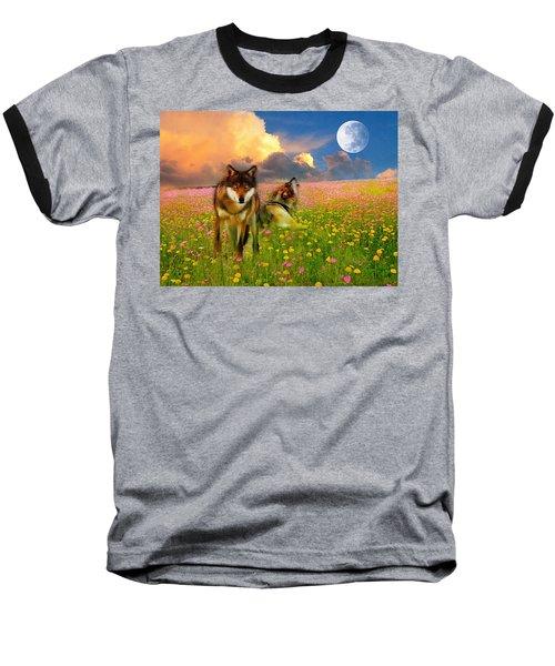 Cry At The Moon Baseball T-Shirt