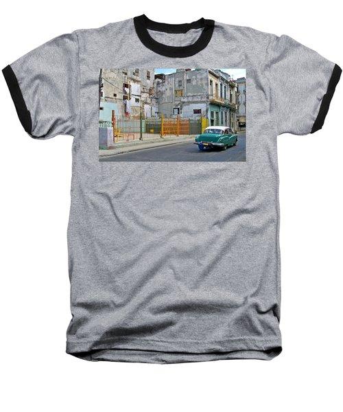 Baseball T-Shirt featuring the photograph Cuba Vintage American Car  by Lynn Bolt