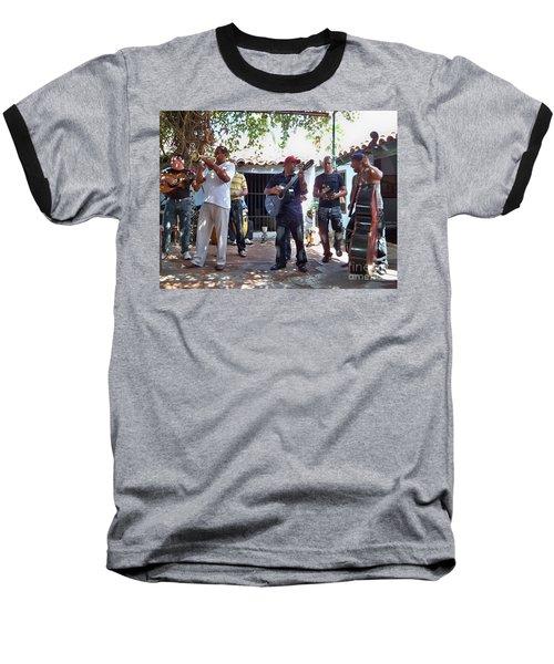 Baseball T-Shirt featuring the photograph Cuban Musicians by Lynn Bolt