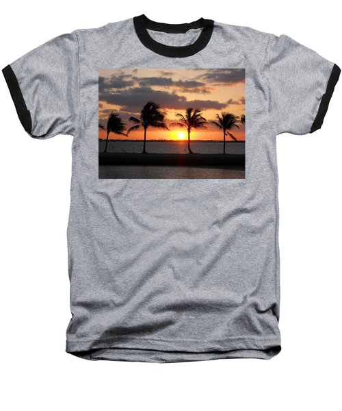 Baseball T-Shirt featuring the photograph Cudjoe Sunrise by Clara Sue Beym