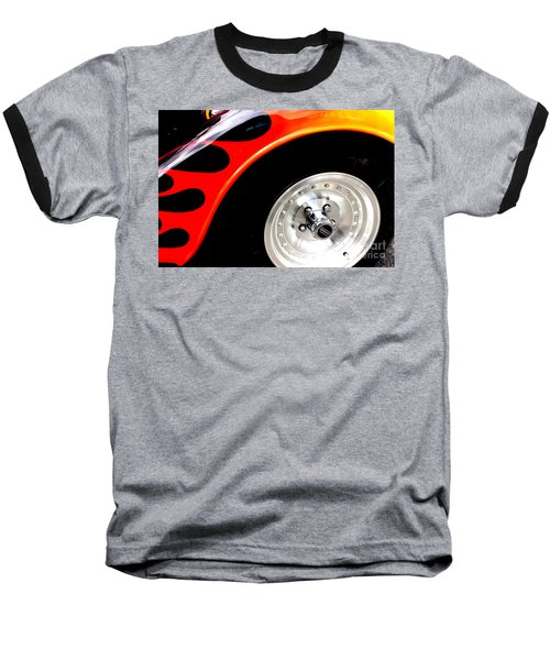 Baseball T-Shirt featuring the digital art Curves Of Flames by Tony Cooper