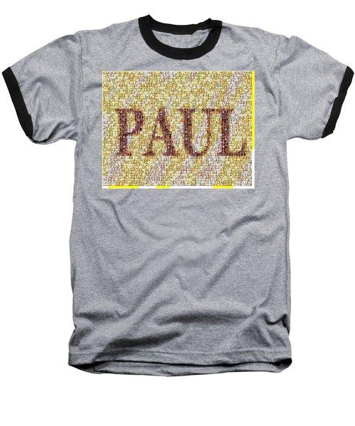 Custom Paul Mosaic Taylor Swift Baseball T-Shirt by Paul Van Scott
