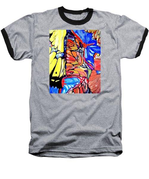 Butterflies Wings  Baseball T-Shirt by Sandra Lira