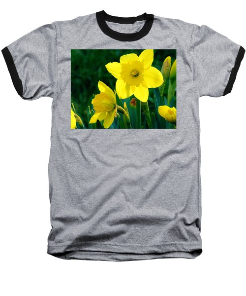 Baseball T-Shirt featuring the photograph Daffodils by Sherman Perry