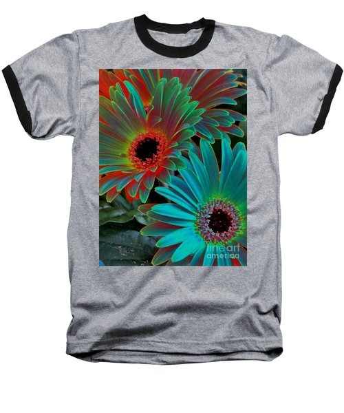 Baseball T-Shirt featuring the photograph Daisies From Another Dimension by Rory Sagner
