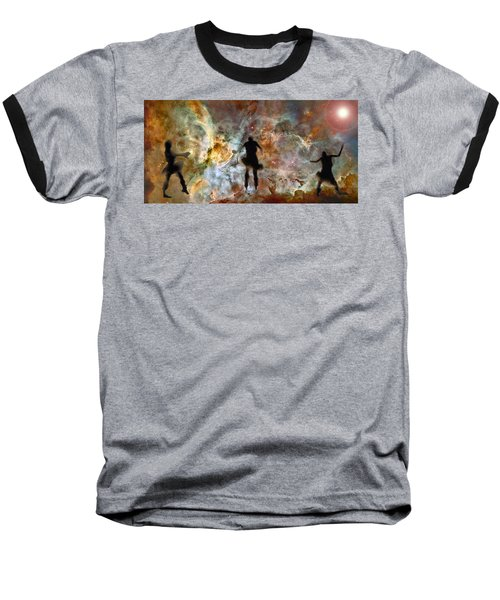 Dancing Nebula Baseball T-Shirt