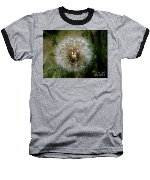Baseball T-Shirt featuring the photograph Dandelion Going To Seed by Sherman Perry