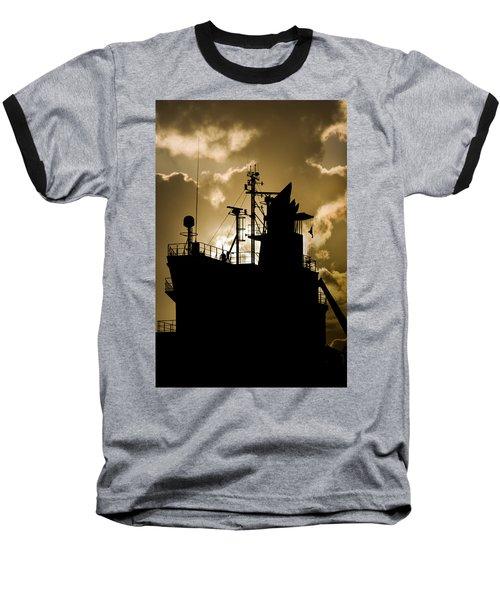 Dark Superstructure Baseball T-Shirt