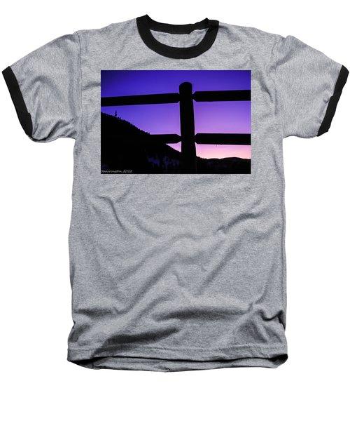 Baseball T-Shirt featuring the photograph Darkening Sky by Shannon Harrington