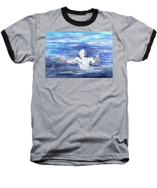 David Bowie In Ashes To Ashes Baseball T-Shirt by Miki De Goodaboom