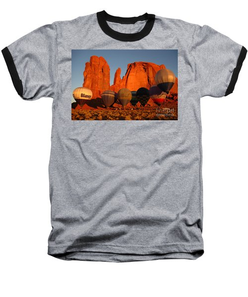 Dawn Flight In Monument Valley Baseball T-Shirt by Vivian Christopher