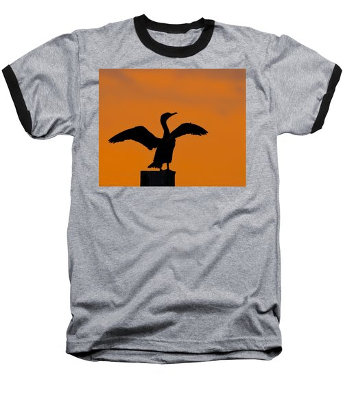 Dawn Of A Double-crested Cormorant  Baseball T-Shirt