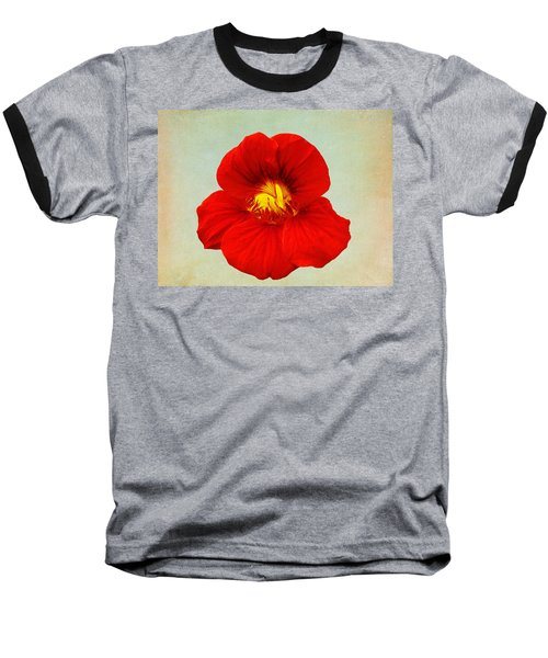 Daylily On Texture Baseball T-Shirt by Bill Barber