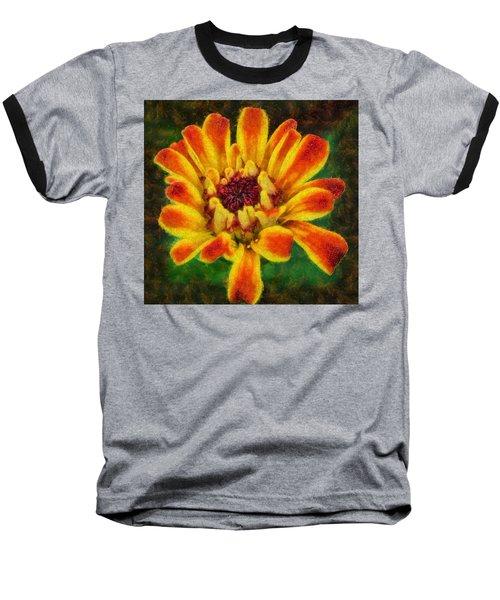 Dazzling Zinnia Baseball T-Shirt