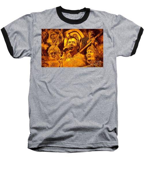 Deep Purple In Rock Baseball T-Shirt
