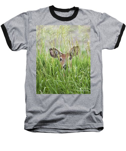 Deer In Hiding Baseball T-Shirt