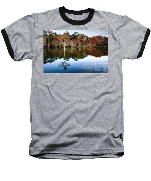 Baseball T-Shirt featuring the photograph Beaver's Bend Defiant Cypress by Tamyra Ayles