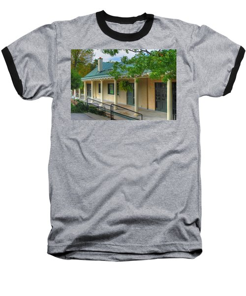 Baseball T-Shirt featuring the photograph Delaware Park Casino by Michael Frank Jr