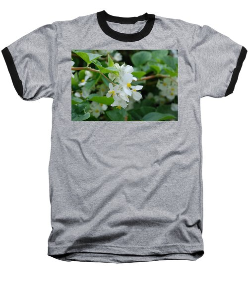 Baseball T-Shirt featuring the photograph Delicate White Flower by Jennifer Ancker