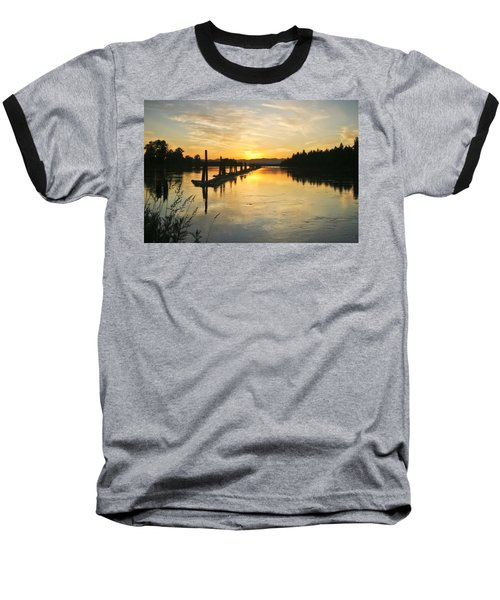Baseball T-Shirt featuring the photograph Delta Sunset by Albert Seger